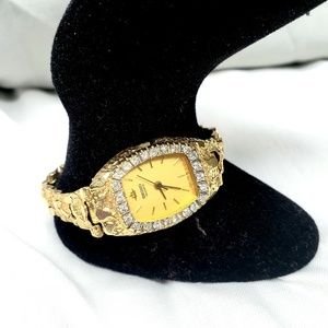 Seiko | Vintage 14K Gold Nugget Diamond Watch